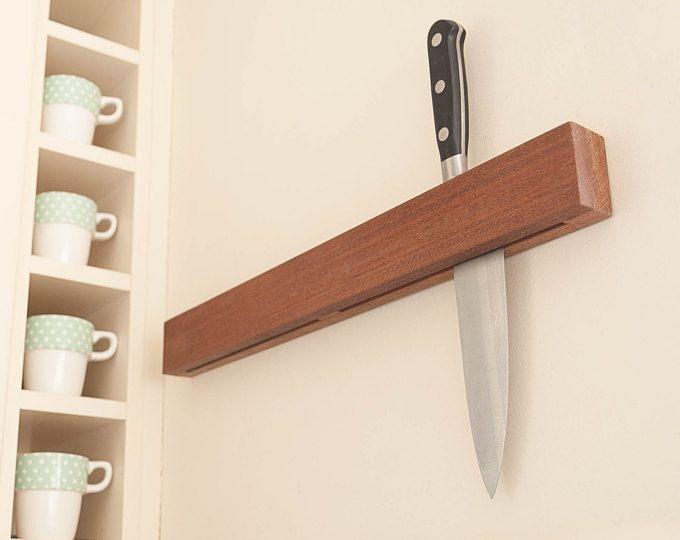 """20"""" Knife holder knife rack reclaimed wood handmade"""
