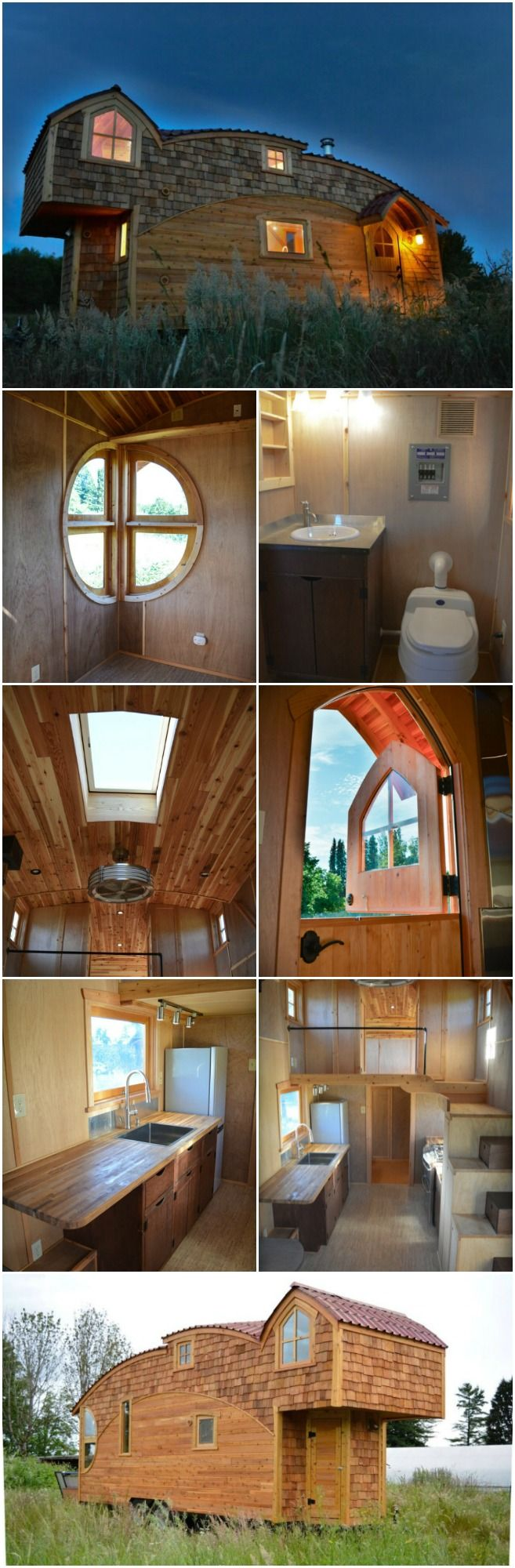 """A lot of tiny houses are amazing for reasons of simple practicality—they manage to make such effective use of space that we are blown away by their cleverness. But other tiny houses amaze us because they are architectural gems. One such house I want to share with you now is """"Moon Dragon,"""" a creation by tiny house architect Zyl Vardos."""