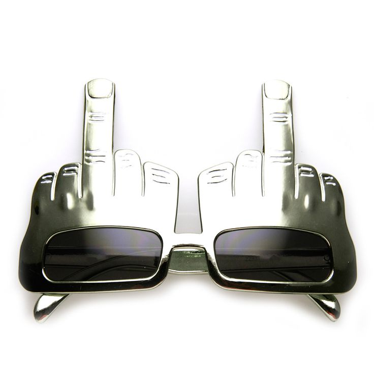 Middle Finger Flip Off Hand Shape Finger Silly Funny Party Novelty Sunglasses