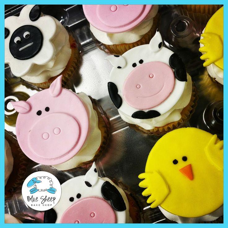 Barnyard Birthday Cupcakes