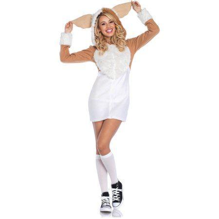 Leg Avenue Adult Gremlins Gizmo Cozy Costume, Women's, Size: Medium, White