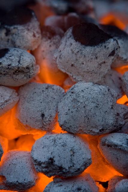 hot burning coals