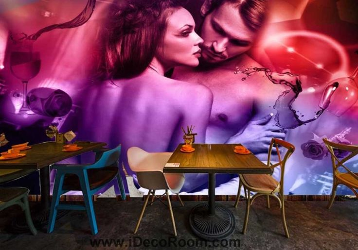 Sexy Couple Wine And Roses Art Wall Murals Wallpaper Decals Prints Decor IDCWP-JB-000687