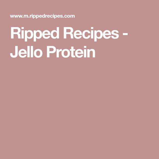Ripped Recipes - Jello Protein