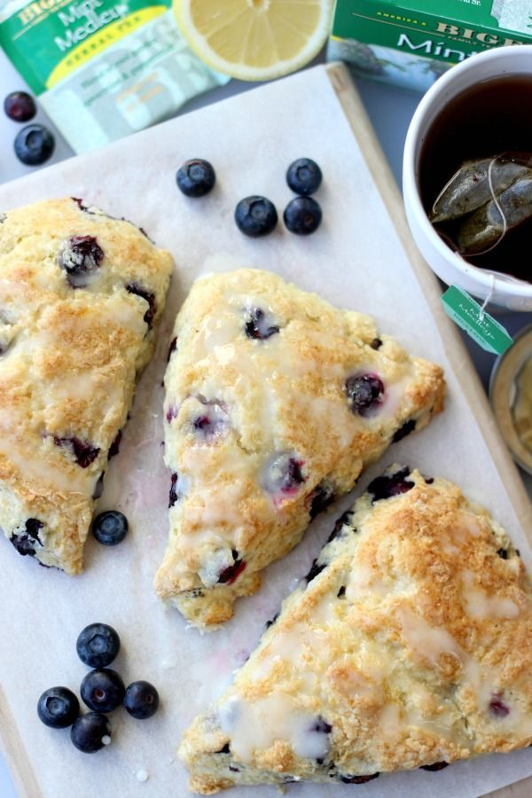Blueberry Scones With Lemon Icing #TeaProudly AD