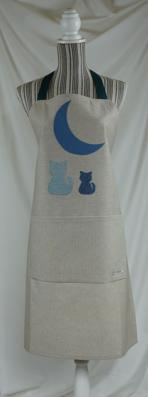 Apron handmade, gift for him, cats di Filoagoefantasia su Etsy
