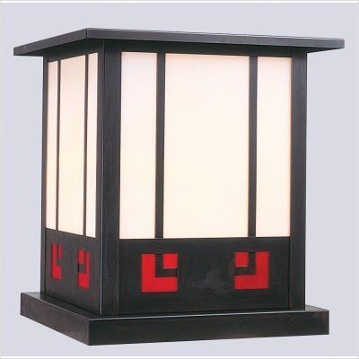 """Arroyo Craftsman SSC State Street Outdoor Lantern by Arroyo Craftsman. $132.82. Arroyo Craftsman SSC Features: -State Street collection. -Available in several finishes. -Available in several shade colors. -UL listed. -Suitable in wet location. Specifications: -Accommodates: 1 x 60W / 100W medium incandescent bulb. -Available sizes:. -12.25"""" Overall dimensions: 12.25"""" H x 11.25"""" W. -Mounting base: 10.5"""". -8.25"""" Overall dimensions: 8.25"""" H x 7.5"""" W. -Mounting base: ..."""