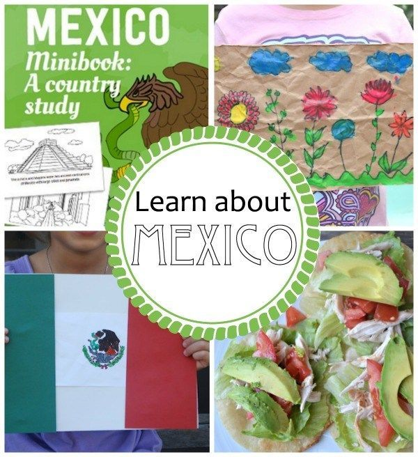 Hands-on activities for kids to learn about Mexico. A country profile, craft, food, history, geography, and cultural info perfect for a Mexico unit. Great for Spanish classes, or ESL, Social Studies, cultural nonfiction in ELA, etc.