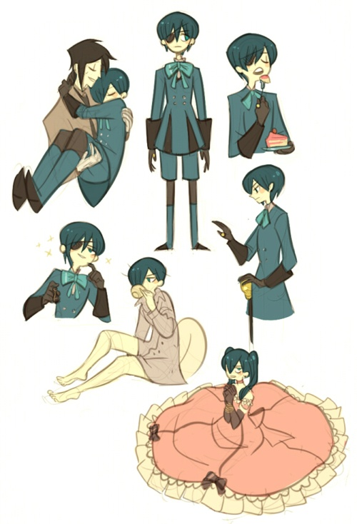 I really like this style :3 Ciel and Sebastian are so cute :3