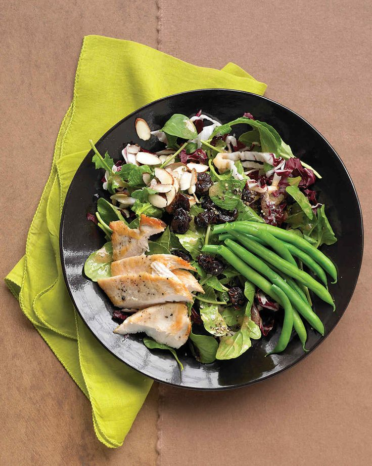 To get dinner on the table in a hurry, prep the chicken, green beans, and dressing up to a day in advance and refrigerate. Assemble the salad just before serving it.
