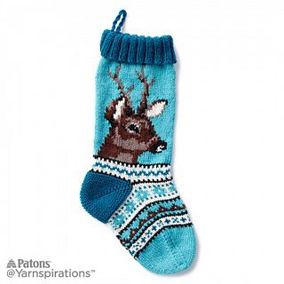 Ravelry: On Dasher Knit Stocking pattern by Patons