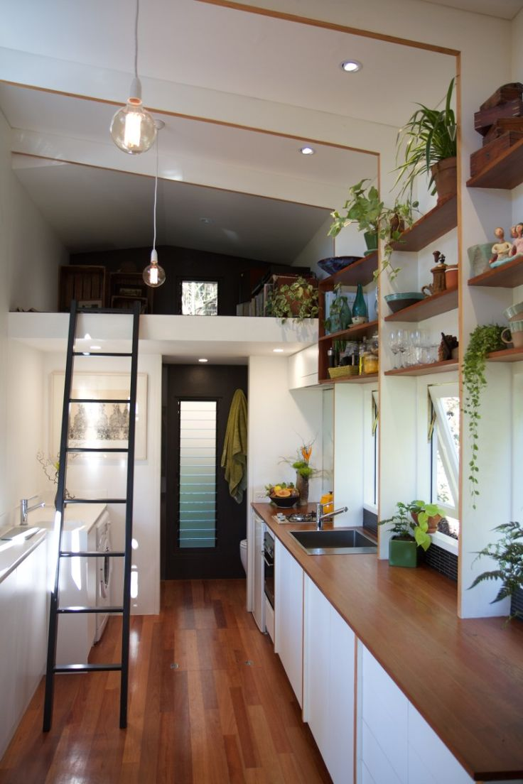 The Tiny House Company introduces model with retractable bed  Living in a shoebox