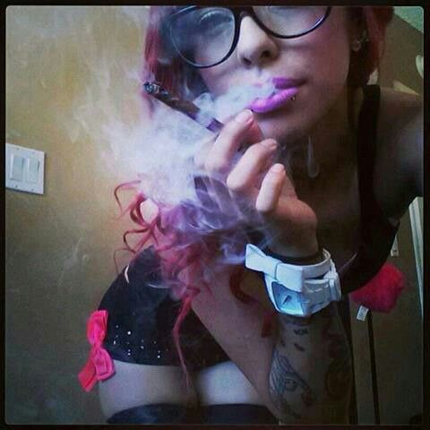 Hot emo girls smoking weed improbable