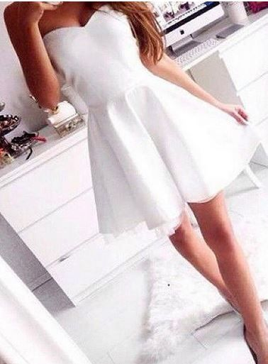 White Strapless Smokin Dress - would be a really great dress for rehearsal dinner
