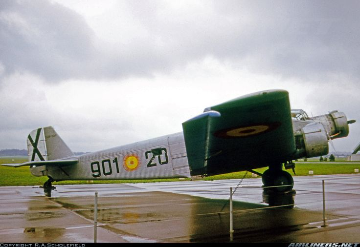 Spanish-built version of the Junkers Ju52/3m displayed at the USAAF Museum in Spanish Air Force markings. - Photo taken at Dayton - Wright-Patterson AFB (Wright AFB) (DWF) [CLOSED] in Ohio, USA on April 22, 1974.
