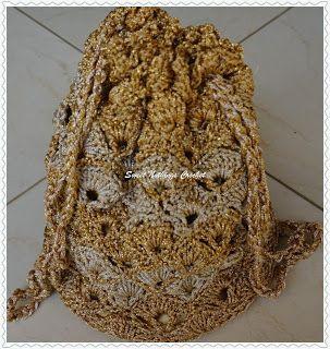 Sweet Nothings Crochet Shelled Two-Toned Potli Bag