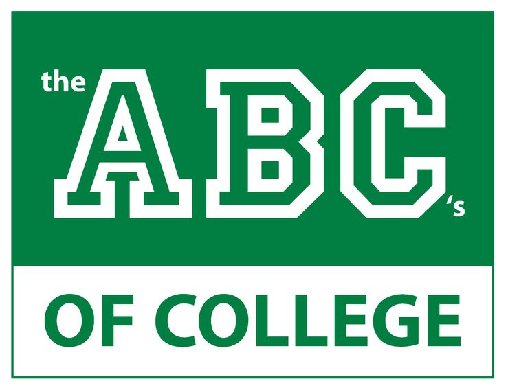 "Posters: The ABC's of College | Oregon GEAR UP  Download and print this set of 8.5""x11"" posters for display in your classroom or hallway - each page displays one term related to college or getting ready for college."