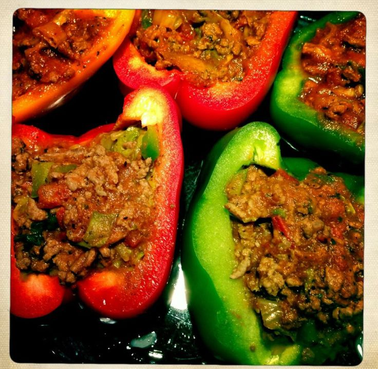 Täytetyt paprikat, Tex Mex Peppers, Filled Peppers