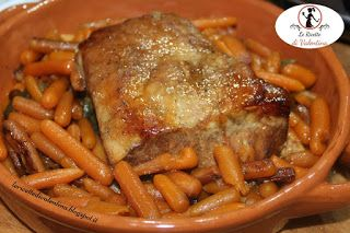 Le Ricette di Valentina: Arrosto di lonza glassato alle mele con carotine b...