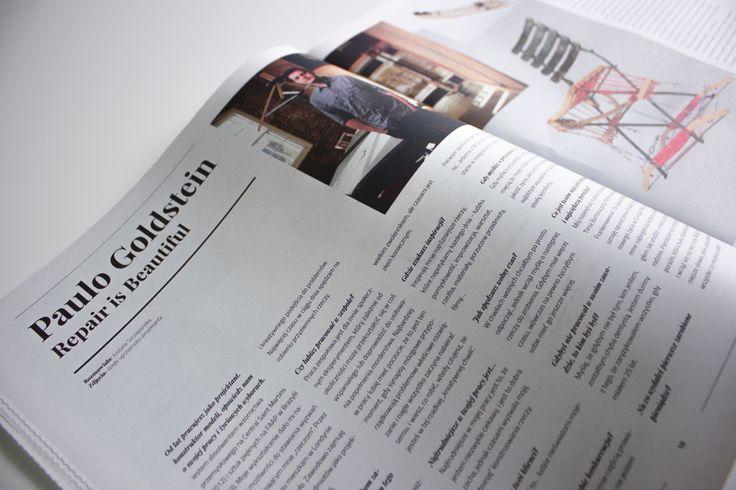 """Jednym z artystów w swoim fachu, o którym mogliście przeczytać w 2. numerze """"Ładnie Naprawię"""" był brazylijski projektant Paulo Goldstein."""