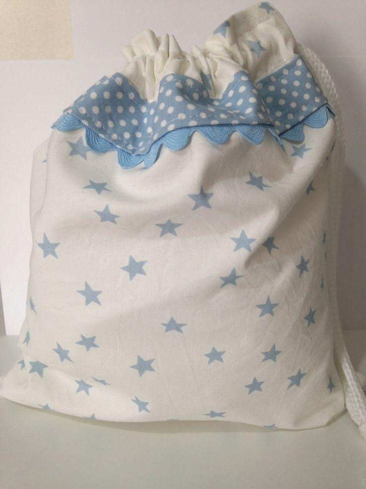 Hilos de Azúcar -  bolsita multi-usos con topos y  estrellas...