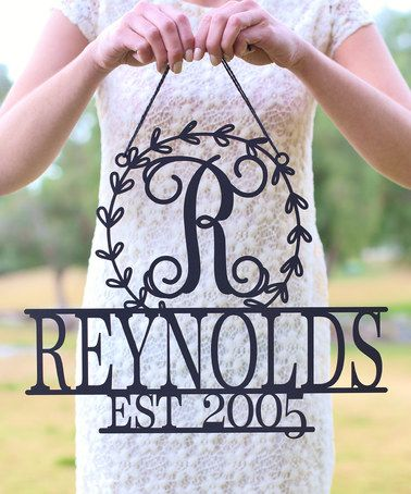 Look what I found on #zulily! Unfinished Wood Personalized Last Name, Initial & Date Wall Sign #zulilyfinds