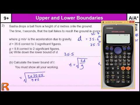 How to do Upper and Lower Bounds A/A* GCSE Higher Maths Worked Exam qu revision, practice & help - YouTube