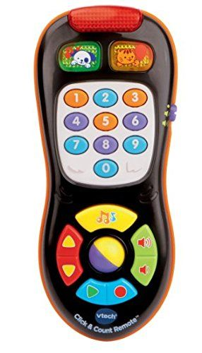 Baby remote control plays more than 45 sing-along songs, melodies, sound effects and phrases Toddlers can pretend channel surf through 9 channels including weather and news; interactive role play for an early education toy 10 colorful buttons introduce colors, numbers and shapes to keep your child's attention; toy remote looks like mom and dad's