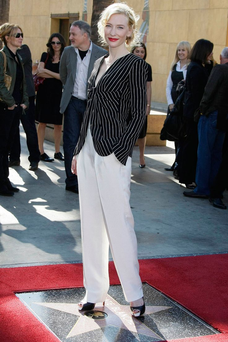 Cate Blanchett was honoured with a star on Hollywood's Walk of Fame and wore an Armani Privé outfit for the ceremony.