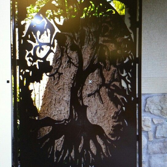 Tree of Life 14 gauge powder coated gate or room divider can purchase at custom laser specialty.