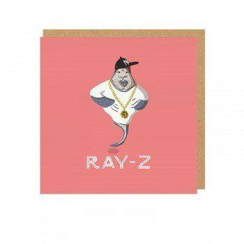 Ray-Z Square Greeting Card