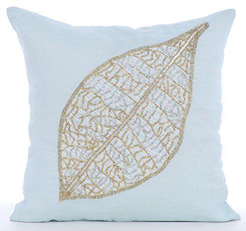 Light Blue Decorative Cushion Cover, Beaded Leaf Tropical... https://www.amazon.co.uk/dp/B01645Z5C2/ref=cm_sw_r_pi_dp_x_if0GybNVD8D94