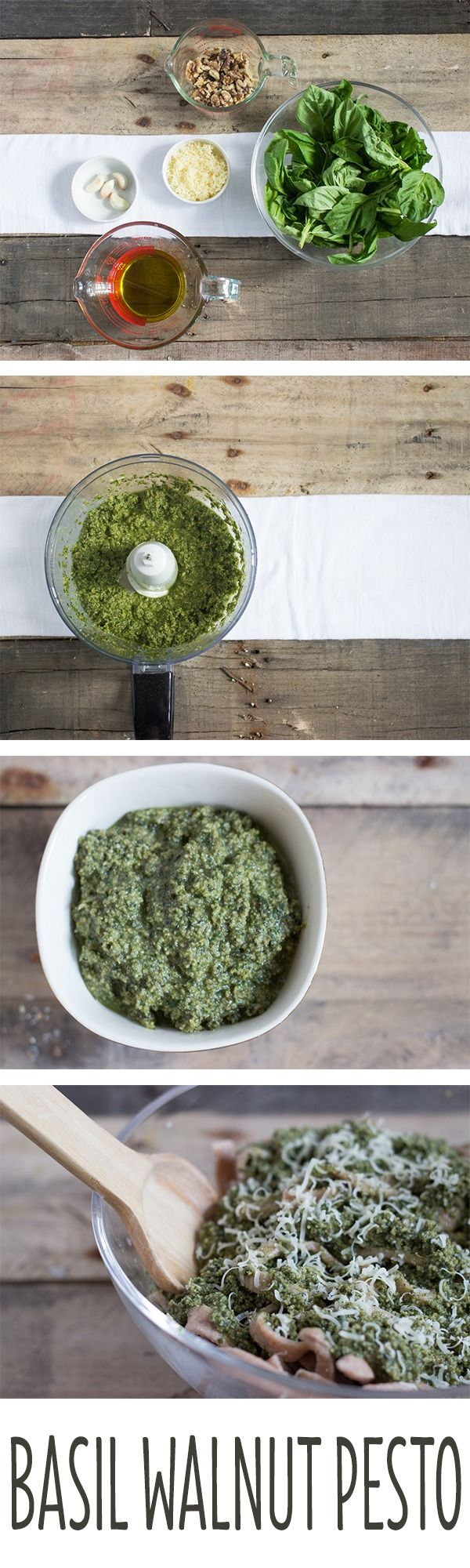 Basil Walnut Pesto is super easy to make and perfect served warm or ...