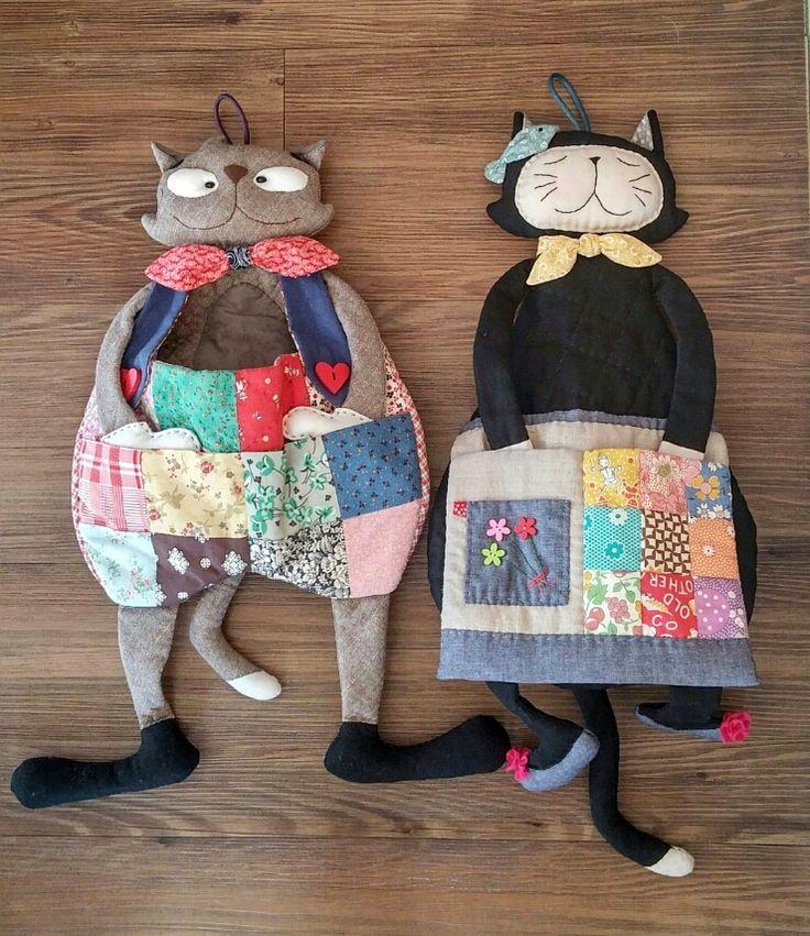 Crafts Ideas, Toys Cat Tutorials, Toys Fabrics Cat, Sewing Crafts, DIY.