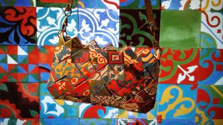 #ColorfulTiles #LouisXIV #CommeCa #Clutchbag #kit #wrapper #MadeinGreece #GreekDesigners #handmade #art #instaart Kit Υ15cm-Π24cm