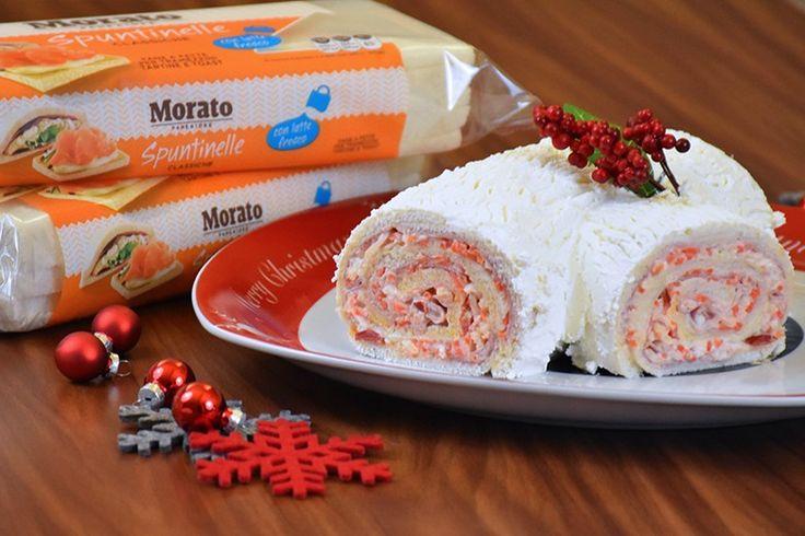 Il tronchetto di Natale salato è un antipasto semplicissimo da preparare, non richiede cottura ma sarà di sicuro effetto e bellissimo da portare a tavola. Ecco come prepararlo