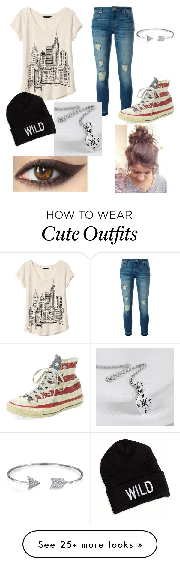"""Back to school outfit #2"" by jayes-julia-hayes on Polyvore featuring MICHAEL Michael Kors, Banana Republic, Converse, American Eagle Outfitters and Bling Jewelry"