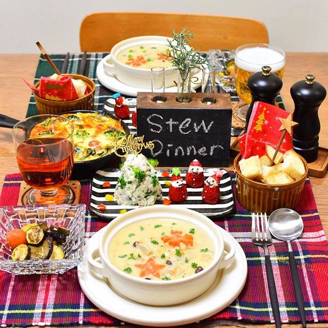 ⁂ こんばんは😊🌙 今日の夜ごはんです🎵 . *鮭とごろごろ野菜のホワイトシチュー *焼き野菜のマリネ *ほうれん草とベーコンのキッシュ *ポテサラツリー *いちごサンタ *バゲット でした❤️ . 今日は作り置きしておいた#シチュー で夜ごはん😋🍴 すごく寒かったので温まりました☺️🌸 . あとは常備菜をちょこちょこと🎶 #ポテサラツリー と#いちごサンタ でちょっとクリスマス気分🎅🎄 . サンタの顔が何回やってもカオスで…向いてないんだな〜と改めて実感😭🌀笑 . ごちそうさまでした❤️ . #おうちごはん#うちごはん#晩ごはん#夜ごはん#夕飯#ふたりごはん#献立#盛り付け#洋食#クリスマス#器#ステジオエム#ニトスキ#ロカリクッキング#デリスタグラマー#クッキングラム#兼業主婦#yumetouraku#wp_delicious_jp#foodpic#KURASHIRUFOOD#kaumo#LIN_stagrammer#locari#IGersJP#onthetable#delistagrammer