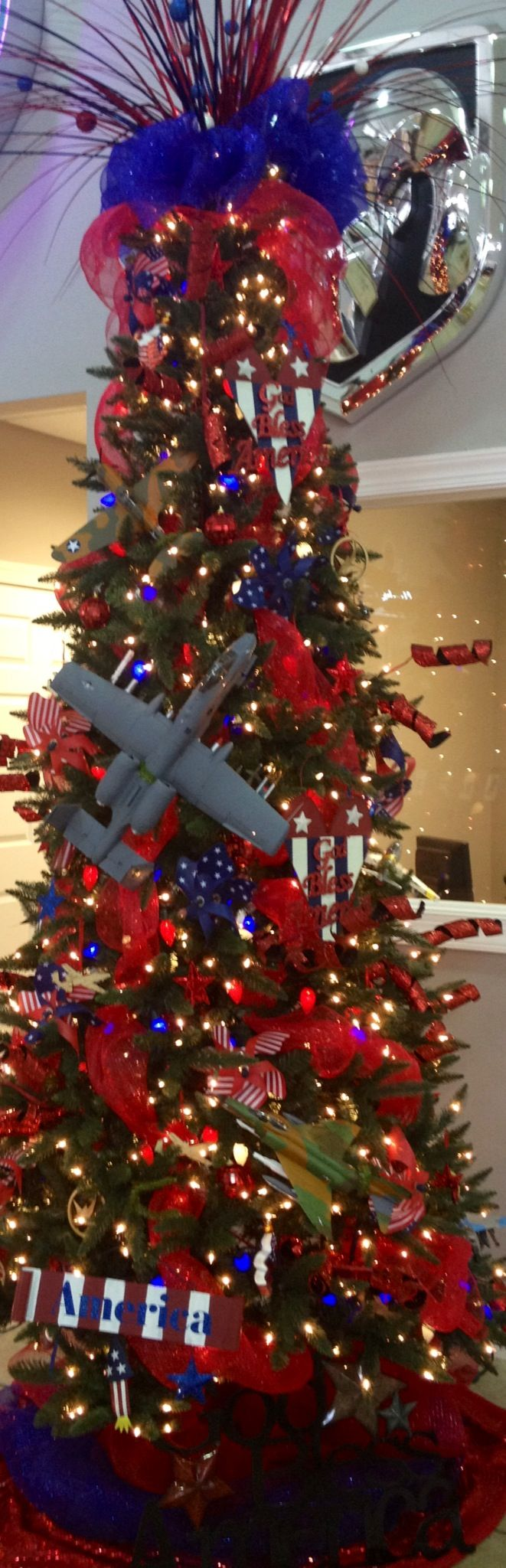 Red white and blue christmas ornaments - Artificial Christmas Trees