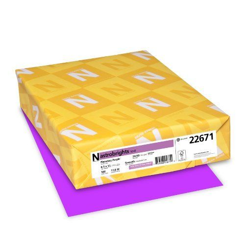 Neenah Astrobrights Premium Color Paper 24 lb 8.5 x 11 Inches 500 Sheets Planetary Purple