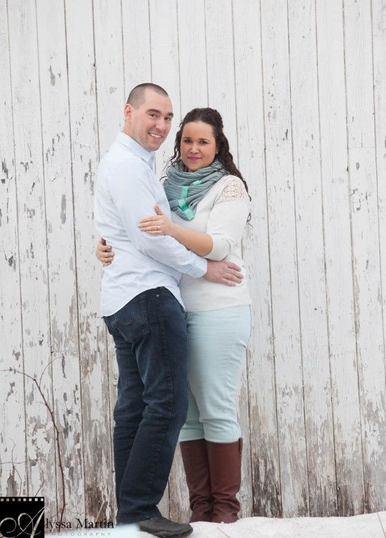Turquoise winter engagement in New Brunswick by Alyssa Martin Photography