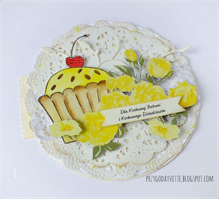 muffinka i żółte róże / yellow roses / muffin