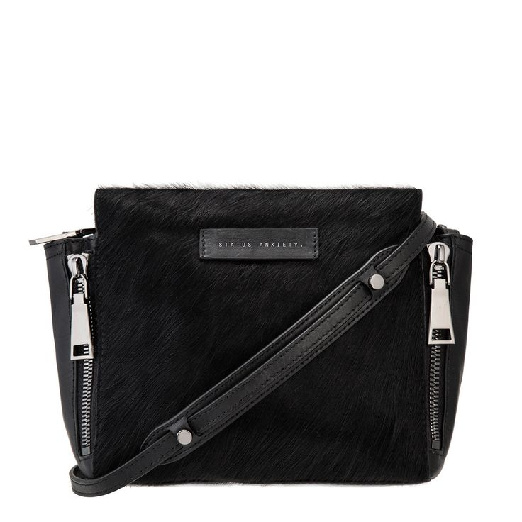 Status Anxiety - The Ascendant Bag In Black/Black Fur