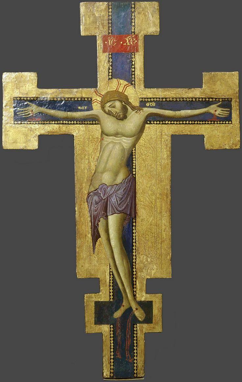 Распятие Христово. Крест процессионный двусторонний. Из ц. Сан Франческо в Ассизи. 1265-1275гг.