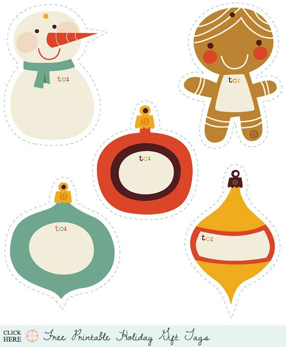 lost of free printable holiday tags