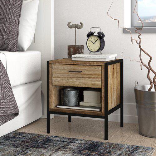 Prater 1 Drawer Bedside Table Borough Wharf Storage Furniture