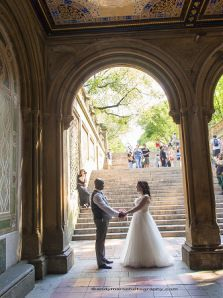 Caroline and Bryan under the arches of Bethesda Terrace, Central Park