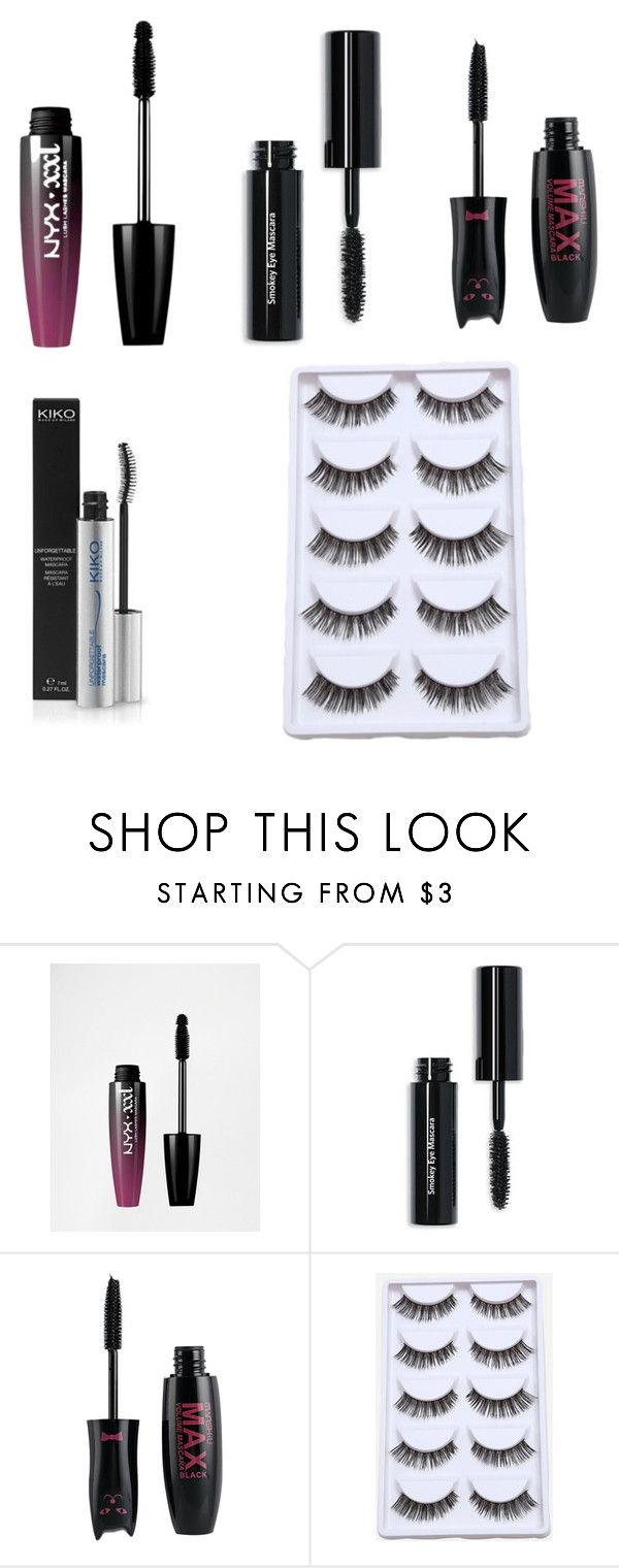 """mascara e ciglia finte"" by chiara-vitolo ❤ liked on Polyvore featuring beauty, NYX and Bobbi Brown Cosmetics"