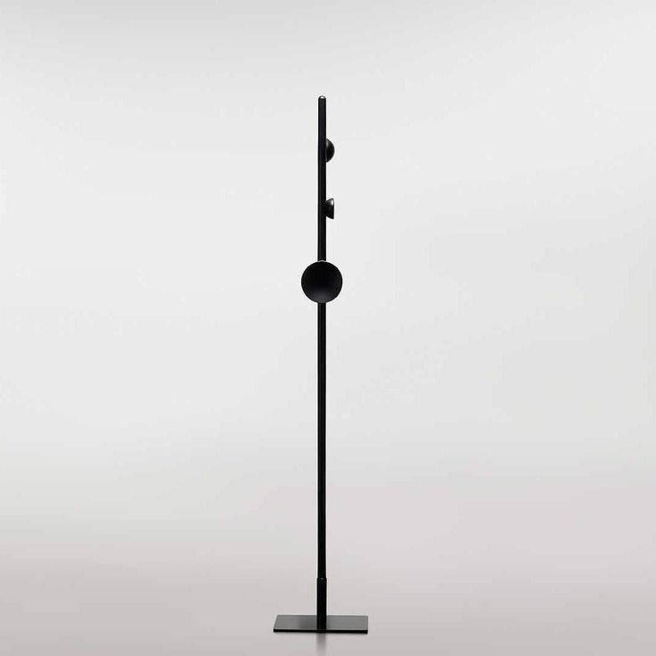 Our handmade Softscape coat stand in black. Also available in ash or oak natural finish.   Available from @stylecraftfurniture   #lenfurniture #helenkontouris #coatstand #black #handmade #luxury #home #office #workstation #interiordesign #accessory