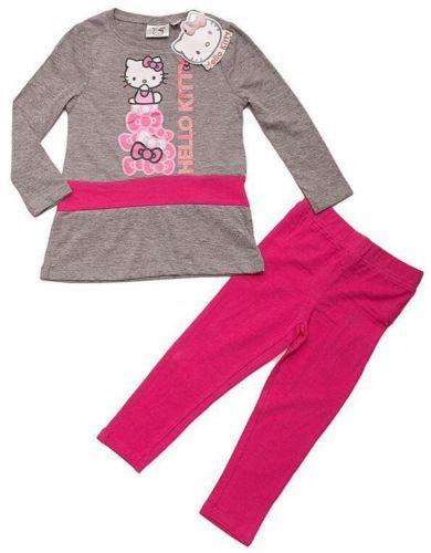 Hello-Kitty-completo-tunica-leggin-da-ragazza-elegante-set-girlish-blouse-pants